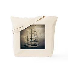 vintage pirate ship landscape Tote Bag