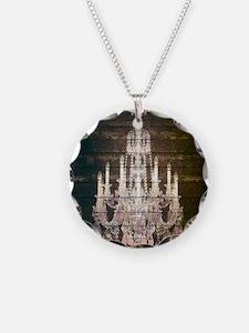 oak chandelier barnwood rust Necklace