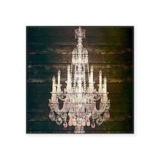 """oak chandelier barnwood rus Square Sticker 3"""" x 3"""""""