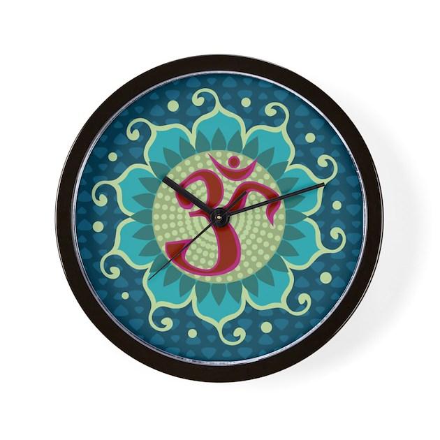 Lotus Aum Wall Clock By Creativetaylor