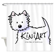KiniArt Promo Westie Shower Curtain