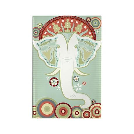 White Elephant Rectangle Magnet