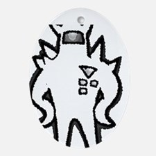 Metalicized Starmen Oval Ornament