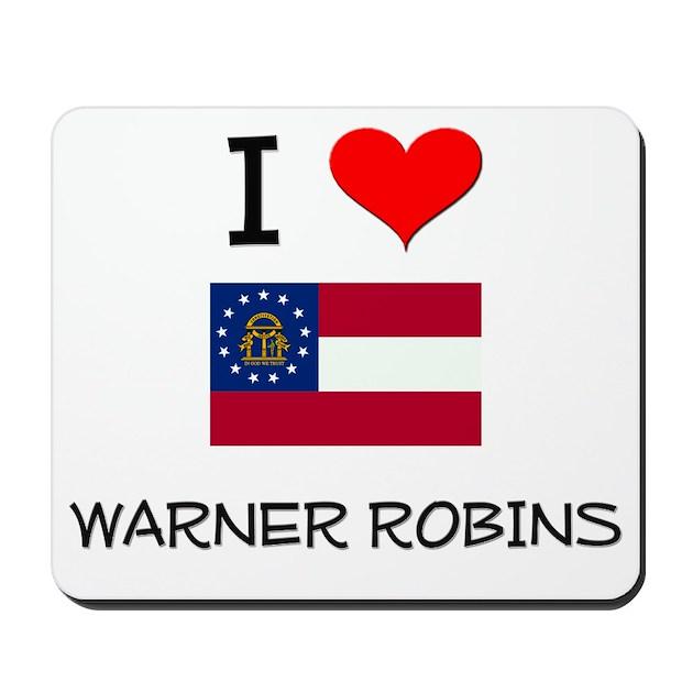 I Love Warner Robins Georgia Mousepad By Listing Store 10501932