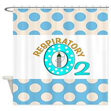 respiratory 3 Shower Curtain
