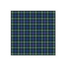 "Tartan - MacKenzie dress Square Sticker 3"" x 3"""