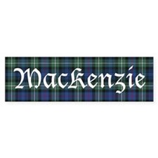 Tartan - MacKenzie dress Bumper Sticker