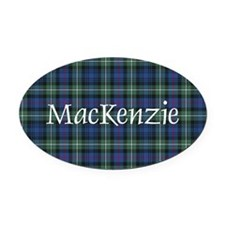 Tartan - MacKenzie dress Oval Car Magnet