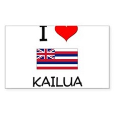 I Love KAILUA Hawaii Decal