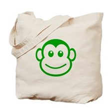 Green Monkey Face Tote Bag