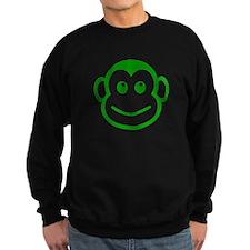 Green Monkey Face Jumper Sweater