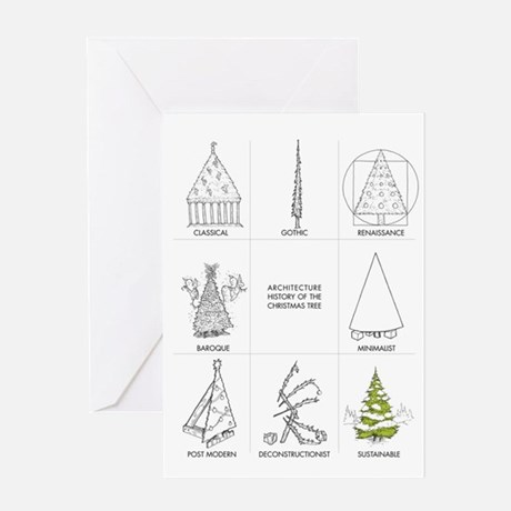 Architecture History Of Christmas Greeting Card