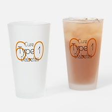 Cure Type 1 Diabetes 6.0 Drinking Glass