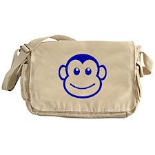 Blue Monkey Face Messenger Bag