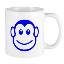 Blue Monkey Face Mugs