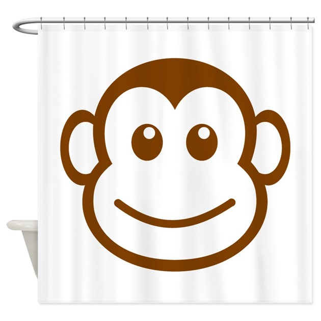 Brown Monkey Face Shower Curtain By AnimalsandWildlifeGifts2