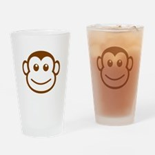 Brown Monkey Face Drinking Glass