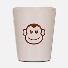 Brown Monkey Face Shot Glass