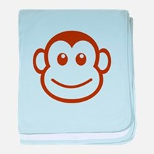 Brown Monkey Face baby blanket