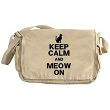 Keep Calm Meow On Messenger Bag