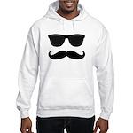 Black Mustache and Sunglasses Hoodie Sweatshirt