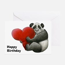 Panda Hugging a Heart Greeting Card