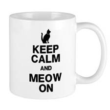 Keep Calm Meow On Mugs