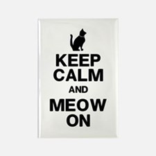 Keep Calm Meow On Magnets