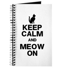 Keep Calm Meow On Journal