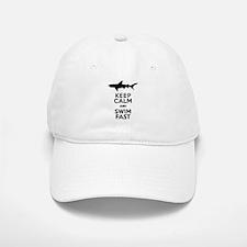 Sharks! Keep Calm and Swim Fast Baseball Baseball Baseball Cap