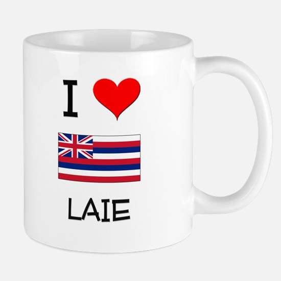 I Love LAIE Hawaii Mugs