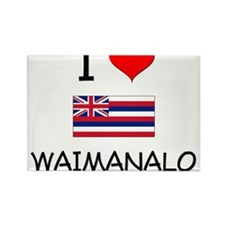 I Love WAIMANALO Hawaii Magnets