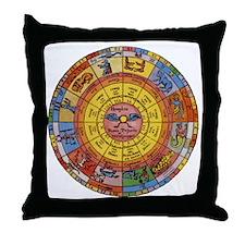Vintage Celestial, Zodiac Wheel Throw Pillow