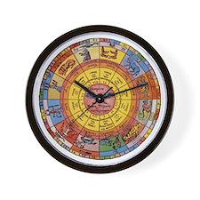 Vintage Celestial, Zodiac Wheel Wall Clock