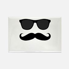 Black Mustache and Sunglasses Magnets