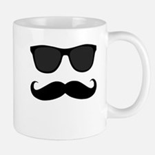Black Mustache and Sunglasses Mugs