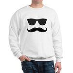 Black Mustache and Sunglasses Sweater
