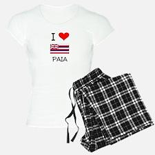 I Love PAIA Hawaii Pajamas