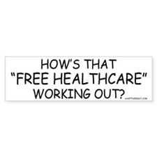 Free Healthcare Bumper Bumper Sticker