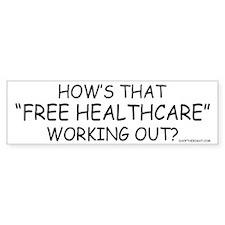 Free Healthcare Bumper Car Sticker