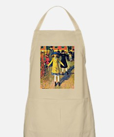 Girl Roller Skating, painting by William Jam Apron