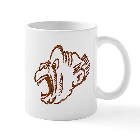 Brown monkey face mugs by animalsandwildlifegifts2 for Animal face mugs