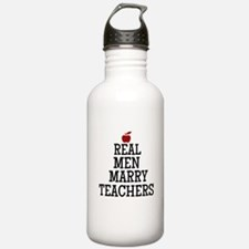 Real Men Marry Teachers Water Bottle