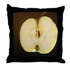 Lopsided sliced apple Throw Pillow