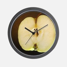 Lopsided sliced apple Wall Clock