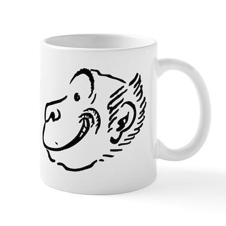 Monkey face mugs by animalsandwildlifegifts2 for Animal face mugs