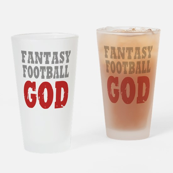 Fant Football GOD Drinking Glass
