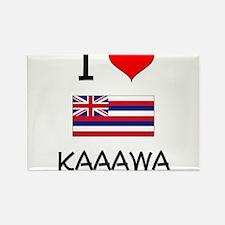 I Love KAAAWA Hawaii Magnets