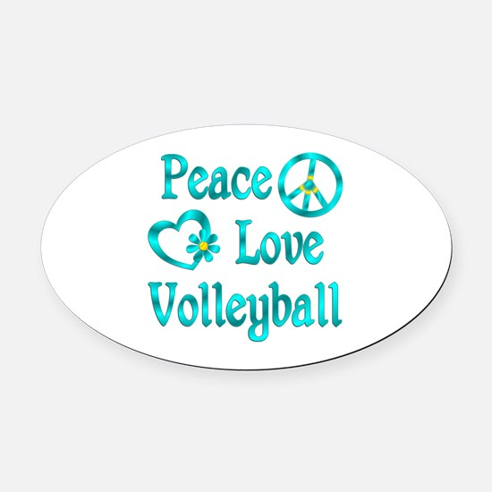 Peace Love Volleyball Car Magnets CafePress - Custom sport car magnetsvolleyball car magnet custom magnets for volleyball players