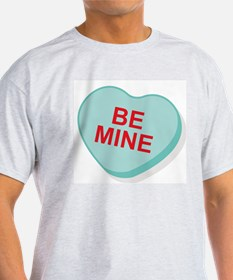 Be Mine Candy Heart Ash Grey T-Shirt